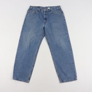 90s Levis 38x30 Relaxed Straight Leg Jeans Blue